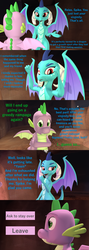 Size: 1920x5400 | Tagged: 3d, artist:papadragon69, cave, choice, choose your own adventure, comic, comic:spike's cyosa, dragon, emberspike, female, flexing, male, older, older spike, princess ember, safe, shipping, source filmmaker, spike, straight, teenager, teenage spike, tired, winged spike, yawn