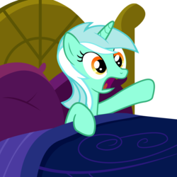 Size: 2000x2000 | Tagged: artist:veyronraze, bed, female, hooves, lyra heartstrings, mare, open mouth, pillow, pony, safe, solo, unicorn, vector