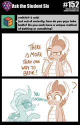 Size: 800x1247 | Tagged: artist:sintakhra, ask, changedling, changeling, dragon, ocellus, question mark, safe, smolder, tumblr, tumblr:studentsix