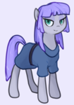 Size: 350x502 | Tagged: safe, artist:nightmare fuel, maud pie, earth pony, pony, female, mare, simple background, smiling, solo, when she smiles