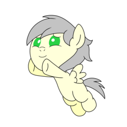 Size: 768x768 | Tagged: safe, artist:linedraweer, oc, pony, baby, commission, foal, hug, solo, vector, wings
