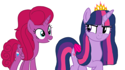 Size: 1920x1080 | Tagged: alicorn, alicorn oc, artist:徐詩珮, aunt and niece, auntie twilight, crown, daughter, female, jewelry, magical lesbian spawn, mare, next generation, oc, oc:betty pop, offspring, older, older twilight, parent:glitter drops, parents:glittershadow, parent:tempest shadow, pony, regalia, safe, twilight sparkle, twilight sparkle (alicorn)