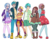 Size: 3300x2550 | Tagged: safe, artist:sammikuma, gallus, ocellus, sandbar, silverstream, smolder, yona, human, :d, belly button, blushing, boots, cardigan, cellphone, choker, clothes, converse, dark skin, dress, female, flats, grin, hat, hoodie, humanized, jacket, jeans, jewelry, light skin, looking at you, male, midriff, necklace, open mouth, pants, phone, shoes, short dress, shorts, simple background, skirt, smiling, smirk, sneakers, socks, stockings, student six, thigh highs, tomboy, transparent background, zettai ryouiki