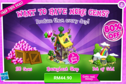 Size: 1029x688 | Tagged: advertisement, costs real money, gameloft, gem, it gives gems, no pony, official, safe, sale
