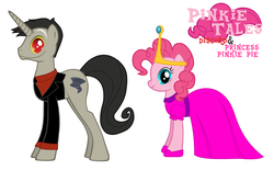 Size: 3900x2424 | Tagged: adventure time, andrea libman, cartoon network, clothes, discopie, discord, discord as a pony, dress, female, john de lancie, male, nergal, pink, pinkie pie, pinkie tales, princess, princess bubblegum, princess pinkie pie, safe, shipping, straight, the grim adventures of billy and mandy, voice actor