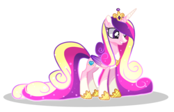 Size: 1872x1215 | Tagged: alicorn, alternate design, artist:heyyasyfox, hoof shoes, pony, princess cadance, safe, simple background, smiling, solo, sparkles, transparent background