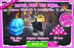 Size: 1037x681 | Tagged: safe, professor flintheart, ursa minor, advertisement, costs real money, gameloft, gem, official, sale