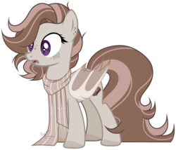 Size: 1280x1094 | Tagged: safe, artist:mintoria, oc, oc:toffee, bat pony, pony, clothes, female, mare, scarf, simple background, solo, transparent background
