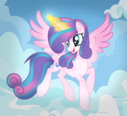 Size: 1964x1780 | Tagged: artist:alizeethepony2008, flying, magic, older, pony, princess flurry heart, safe, solo