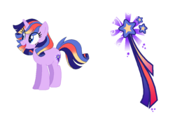 Size: 864x576 | Tagged: safe, artist:thepegasisterpony, oc, oc:valhalla stardust, pony, base used, magical lesbian spawn, offspring, parent:princess cadance, parent:twilight sparkle, parents:twidance, solo