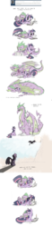 Size: 2550x10952 | Tagged: safe, alternate version, artist:skutchi, spike, twilight sparkle, dragon, pony, unicorn, adult, adult spike, age progression, ask, blushing, book, candle, colored, comic, crying, cuddling, dialogue, eye contact, eyes closed, fangs, feels, female, flying, frown, hug, imagination, imagining, kiss on the cheek, kissing, laughing, levitation, looking at each other, looking back, looking up, lying, magic, male, mama twilight, mare, older, older spike, on back, on top, open mouth, pony pillow, prone, quill, reading, sad, scales, scroll, sitting, size difference, sleeping, smiling, spikelove, spread wings, sun, teary eyes, telekinesis, this ended in tears, this will end in tears, tickling, tumblr, underhoof, unicorn twilight, wall of tags, watching, wavy mouth, wide eyes, wing blanket, winged spike, winghug, wings, writing