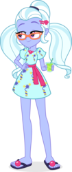 Size: 3128x7413 | Tagged: absurd res, artist:punzil504, beverage, clothes, cute, drink, equestria girls, feet, female, flip-flops, glass, glasses, safe, sandals, simple background, smiling, solo, straw, sugarcoat, sugarcute, transparent background