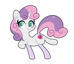 Size: 1280x1097 | Tagged: artist:turtlefarminguy, colored pupils, cute, diasweetes, ear fluff, female, filly, pony, safe, simple background, solo, sweetie belle, transparent background, unicorn