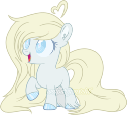Size: 800x724 | Tagged: artist:t-aroutachiikun, earth pony, female, filly, oc, oc:puddleheart, pony, safe, simple background, solo, transparent background