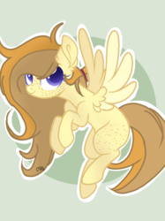 Size: 767x1024 | Tagged: artist:mlpcotton-candy-pone, female, mare, oc, oc:ivory buttercup, pegasus, pony, safe, solo