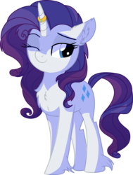 Size: 5292x7010 | Tagged: absurd res, artist:aureai, artist:cyanlightning, chest fluff, cute, ear fluff, female, floppy ears, happy, horn jewelry, horn ring, jewelry, looking at something, mare, one eye closed, pony, raribetes, rarity, ring, safe, simple background, smiling, solo, .svg available, transparent background, unicorn, vector