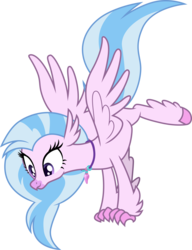 Size: 3000x3900 | Tagged: .ai available, artist:cloudyglow, balancing, classical hippogriff, female, high res, hippogriff, safe, silverstream, simple background, solo, spoiler:s08e22, transparent background, vector, what lies beneath