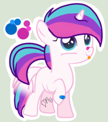 Size: 555x625 | Tagged: artist:mlpcotton-candy-pone, female, filly, oc, oc:magical melody, pony, safe, solo, tongue out, unicorn