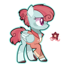 Size: 1965x2109 | Tagged: safe, artist:jxst-alexa, oc, pegasus, pony, clothes, female, magical lesbian spawn, mare, offspring, parent:posey shy, parent:windy whistles, parents:windyshy, shirt, simple background, solo, transparent background