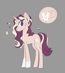 Size: 993x1116 | Tagged: artist:friendlyraccoon, female, magical lesbian spawn, mare, oc, oc:fauna, offspring, parent:fluttershy, parent:rarity, parents:flarity, pony, reference sheet, safe, solo, unicorn