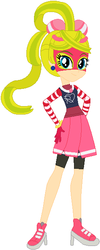 Size: 250x622 | Tagged: safe, artist:selenaede, artist:user15432, human, equestria girls, arms, arms (video game), barely eqg related, base used, bow, clothes, crossover, ear piercing, equestria girls style, equestria girls-ified, hair bow, hasbro, hasbro studios, high heels, nintendo, piercing, ribbon girl, shoes
