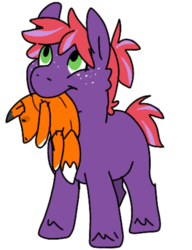 Size: 718x933 | Tagged: artist:tinyclydesdale, colt, freckles, male, mouth hold, oc, oc:liberty apple, offspring, parent:big macintosh, parents:twimac, parent:twilight sparkle, plushie, safe, simple background, solo, white background