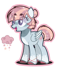 Size: 781x973 | Tagged: artist:roxynightb3, female, magical lesbian spawn, mare, oc, offspring, parent:twilight velvet, parent:windy whistles, pegasus, safe, simple background, solo, transparent background
