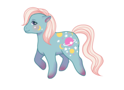 Size: 739x539 | Tagged: artist:lummyplummy, g1, night glider (g1), safe, simple background, solo, transparent background, twice as fancy ponies