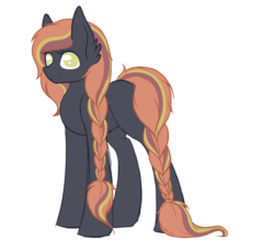 Size: 1024x937 | Tagged: artist:blocksy-art, braid, earth pony, female, mare, oc, pony, safe, simple background, solo, transparent background