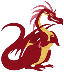 Size: 3400x3800 | Tagged: angry, artifact, artist:mihaaaa, basil, dragon, dragonshy, male, safe, simple background, solo, transparent background, vector