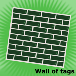 Size: 1024x1024 | Tagged: safe, artist:devfield, derpibooru, meta, no pony, nothing at all, official spoiler image, simple background, spoilered image joke, tags, vector, wall of tags