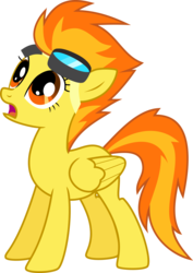 Size: 6000x8460   Tagged: safe, alternate version, artist:chainchomp2, spitfire, pegasus, pony, the best night ever, absurd resolution, female, goggles, looking up, mare, open mouth, simple background, solo, transparent background, vector
