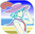 Size: 952x905   Tagged: safe, artist:acesrockz, coco pommel, human, beach, cocobetes, cute, female, hat, human coloration, humanized, solo
