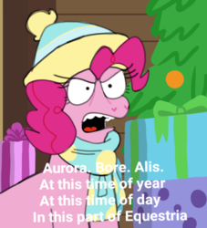 Size: 659x727 | Tagged: safe, artist:mewnikitty, pinkie pie, best gift ever, female, open mouth, parody, simpsons did it, solo, steamed hams, steamed hams in the comments, superintendent chalmers, text, the simpsons