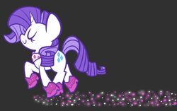 Size: 1280x805 | Tagged: safe, artist:typhwosion, rarity, pony, the end in friend, bandana, black background, boots, cute, eyes closed, female, glitter, glitter boots, neckerchief, profile, raribetes, shoes, simple background, solo