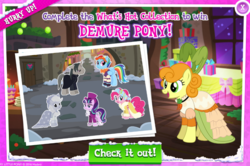Size: 1026x683 | Tagged: advertisement, applejack, carrot top, gameloft, golden harvest, official, pinkie pie, present, professor flintheart, rainbow dash, safe, snowdash, snowfall frost, spirit of hearth's warming past, spirit of hearth's warming presents, starlight glimmer