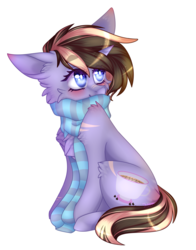 Size: 1700x2163 | Tagged: artist:itsashiepie, clothes, female, mare, oc, oc:mocha chip, pony, safe, scarf, simple background, solo, transparent background, unicorn