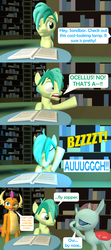 Size: 1920x4320 | Tagged: 3d, artist:red4567, behaving like a moth, bugs doing bug things, bug zapper, burn, comic, ocellabuse, ocellus, ouch, safe, sandbar, shocked, smolder, source filmmaker