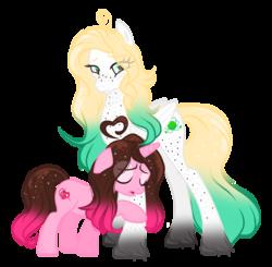 Size: 1024x1004 | Tagged: safe, artist:nini-the-kitten, oc, oc only, oc:nicole, oc:uranium decay, object pony, original species, pegasus, pony, unicorn, element pony, ponified, simple background, transparent background