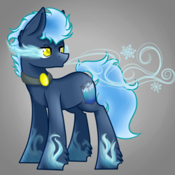 Size: 2449x2449 | Tagged: artist:blocksy-art, earth pony, male, oc, oc:ethereal ice, pony, safe, solo, sombra eyes, stallion