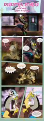 Size: 1919x5270   Tagged: safe, artist:estories, discord, oc, oc:alice goldenfeather, draconequus, pegasus, pony, comic:find yourself, ..., burnt, comic, female, male, mare, train station