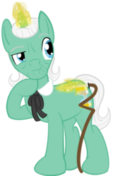 Size: 1280x1805 | Tagged: artist:sixes&sevens, cane, doctor who, doctor whooves, first doctor, magic, male, necktie, pony, safe, simple background, solo, time turner, transparent background, unicorn