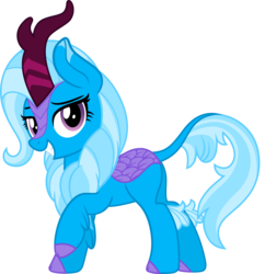 Size: 4837x5000 | Tagged: safe, artist:mlpcreativelab, trixie, kirin, sounds of silence, .ai available, .svg available, absurd resolution, cloven hooves, colored hooves, female, grin, kirin trixie, kirin-ified, mare, simple background, smiling, solo, species swap, transparent background, vector