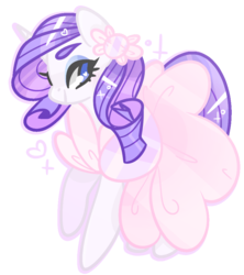 Size: 831x934 | Tagged: safe, artist:euphoriapony, rarity, pony, unicorn, clothes, cute, dress, female, hair accessory, heart, heart eyes, raribetes, simple background, solo, transparent background, wingding eyes