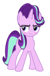 Size: 4100x6196 | Tagged: absurd res, artist:kuren247, baka, blushing, bubblecheek, cute, female, glimglam, inspired, irritated, mare, pony, safe, simple background, solo, starlight glimmer, transparent background, tsundere, unicorn, vector