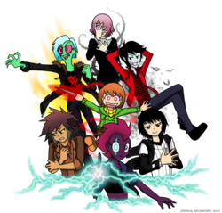 Size: 720x688 | Tagged: adventure time, alien, artist:crydius, catgirl, catra, chara, crona, crossover, dagger, electricity, elements of disharmony, equestria girls, female, fizzlepop berrytwist, glowing eyes, glowing scar, human, lightning, lord dominator, male, marshall lee, my little pony: the movie, oc, oc:crydius, pointed ears, safe, she-ra and the princesses of power, simple background, soul eater, tempest shadow, transparent background, undertale, vampire, wander over yonder, weapon