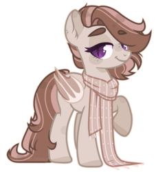 Size: 1284x1412 | Tagged: safe, artist:m-00nlight, oc, oc:toffee, bat pony, pony, clothes, female, mare, scarf, simple background, solo, transparent background