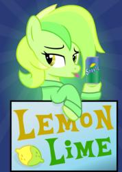 Size: 3554x5000 | Tagged: useless source url, safe, artist:tacobender, derpibooru exclusive, oc, oc:lemon lime, food pony, original species, pony, soda pony, absurd resolution, commission, ponified, soda, soda can, solo
