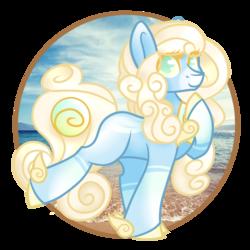 Size: 2449x2449 | Tagged: safe, artist:blocksy-art, oc, oc:sunbeamed waves, original species, solutai pony, female, solo
