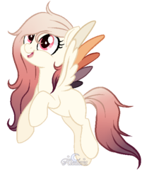 Size: 451x561 | Tagged: artist:aledera, base used, colored wings, female, mare, multicolored wings, oc, oc:autumn fate, pegasus, pony, safe, solo